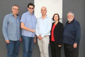 Das neue Präsidium des BDAT: (v.l.n.r.) Frank Grünert , Simon Isser (Präsident), Nils Hanraets, Sandra Wirth, Jürgen Peter (c) Katrin Kellermann, BDAT