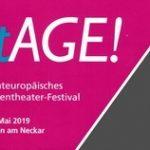 stAGE! Gesamteuropäisches Seniorentheater-Festival  vom 16.-19. Mai 2019 in Esslingen am Neckar